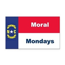 Moral Mondays Rectangle Car Magnet