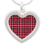 Tartan - Akins Silver Heart Necklace