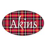 Tartan - Akins Sticker (Oval 50 pk)
