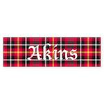 Tartan - Akins Sticker (Bumper)