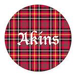 Tartan - Akins Round Car Magnet