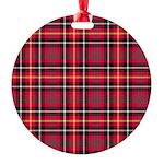 Tartan - Akins Round Ornament