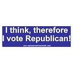 I think, I vote Republican