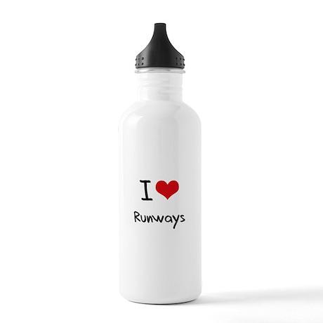 I Love Runways Water Bottle