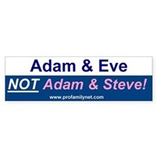 Adam and Even not Adam and Steve!