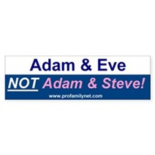 Adam and Even, not Adam and Steve