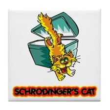 Schrodinger's Cat Tile Coaster