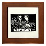 Cat Duet Framed Tile