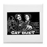 Cat Duet Tile Coaster