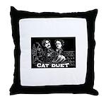 Cat Duet Throw Pillow