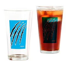 8 Bit Beast Drinking Glass
