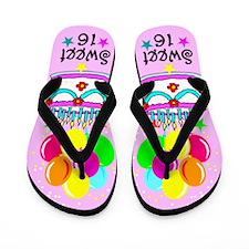 SWEET 16 QUEEN Flip Flops