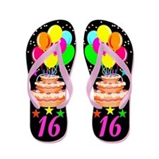 COLORFUL 16TH Flip Flops