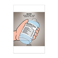 Water Nutritional Value Mini Poster Print