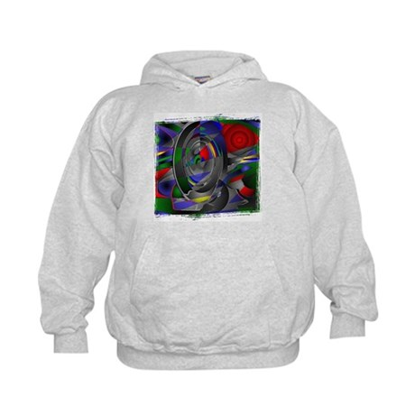 Abstract 002a Kids Hoodie