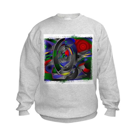 Abstract 002a Kids Sweatshirt