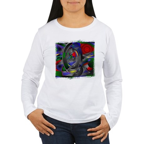 Abstract 002a Women's Long Sleeve T-Shirt