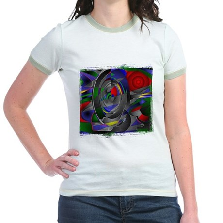 Abstract 002a Jr. Ringer T-Shirt