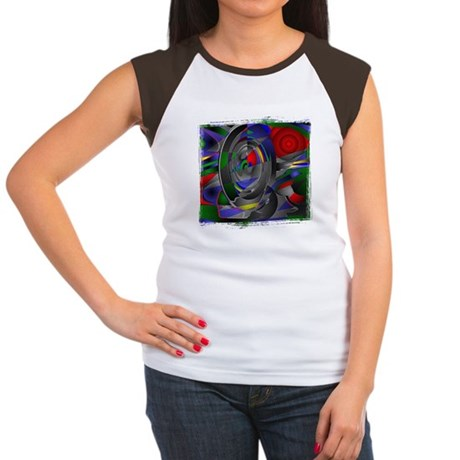 Abstract 002a Women's Cap Sleeve T-Shirt