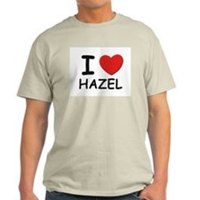 I love Hazel Ash Grey T-Shirt