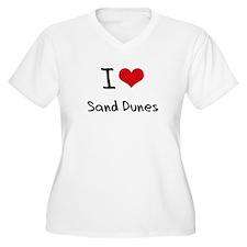 I Love Sand Dunes Plus Size T-Shirt