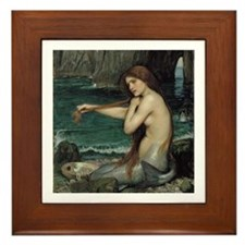 The Mermaid Framed Tile