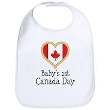 Babys 1st Canada Day Bib