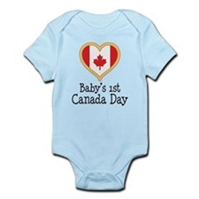 Babys 1st Canada Day Body Suit