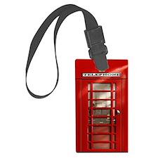British Red Telephone Box Luggage Tag