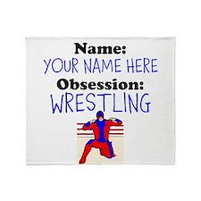Custom Wrestling Obsession Throw Blanket