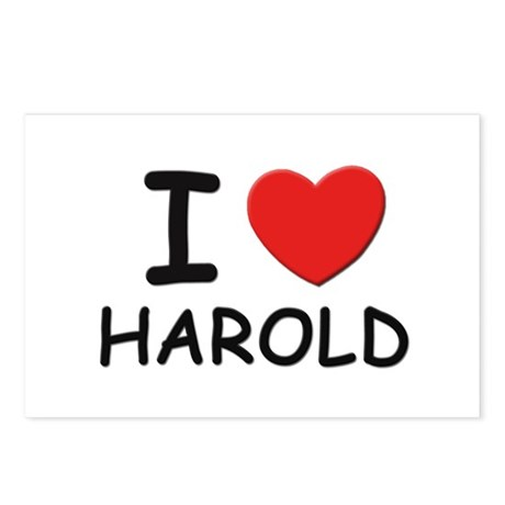 I love Harold Postcards (Package of 8)