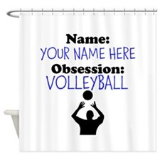 Custom Volleyball Obsession Shower Curtain