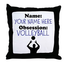 Custom Volleyball Obsession Throw Pillow