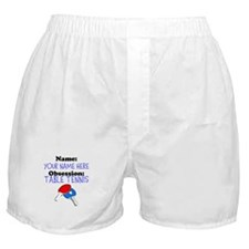 Custom Table Tennis Obsession Boxer Shorts