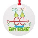 Cross Country Birthday Round Ornament