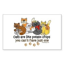 Cats are like potato chips Bumper Stickers