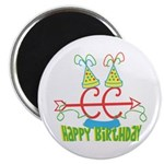 Cross Country Birthday Magnet