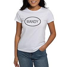 Mandy Oval Design Tee