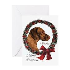 Vizsla Christmas Greeting Card