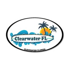 Clearwater FL - Surf Design. Wall Decal