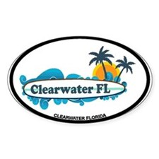 Clearwater FL - Surf Design. Decal
