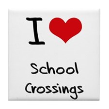 I Love School Crossings Tile Coaster
