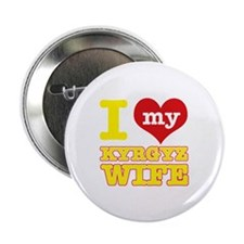 "I love my Kyrgyz Wife 2.25"" Button (100 pack)"