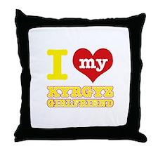 I love My Kyrgyz Girlfriend Throw Pillow