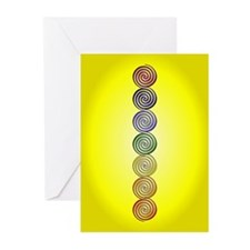 Yellow Solar Plexus Chakra Greeting Card