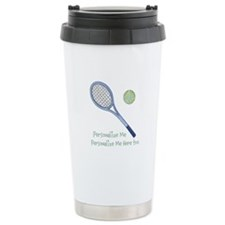 Personalized Tennis Stainless Steel Travel Mug