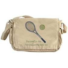 Personalized Tennis Messenger Bag