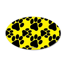 Dog Paws Yellow Wall Decal