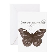 You are my Sunshine Butterfly Greeting Cards (Pk o