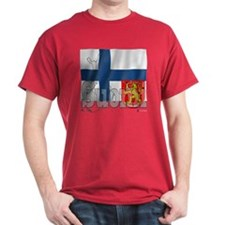 Silky Flag of Suomi T-Shirt